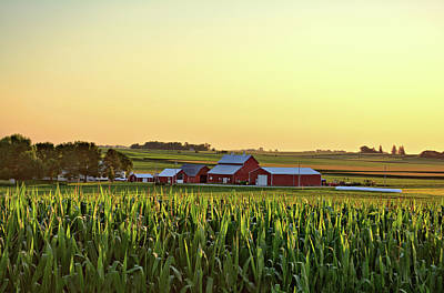 Photograph - Farm In The Corn by Bonfire Photography