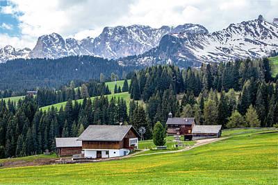 Photograph - Farm In The Dolomites by Carolyn Derstine