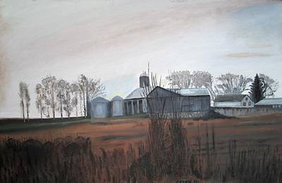 Farm In The Fall Art Print by Keith Bagg