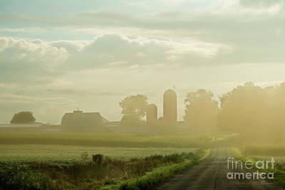 Photograph - Farm In The Fog by David Arment