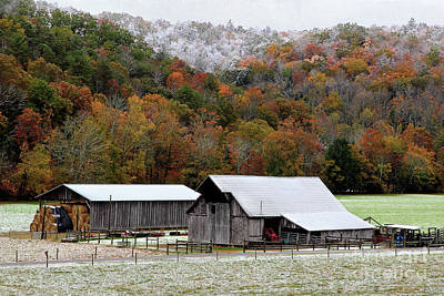 Farm In The Smokies Art Print by Michael Eingle