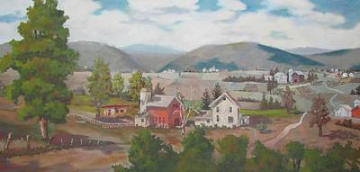Painting - Farm In The Valley by Tony Caviston