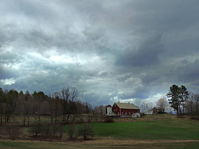 Photograph - Farm In Vermont by Nancy Griswold