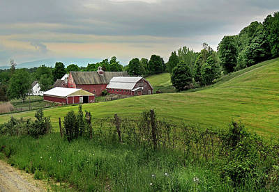 Photograph - Farm In West Newbury Vermont by Nancy Griswold