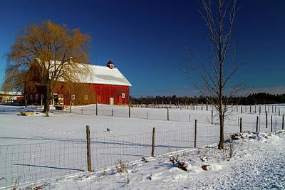 Photograph - Farm In Winter by Chuck De La Rosa