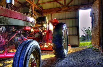 Bailing Hay Photograph - Farm Junk No3 by Sam Davis Johnson
