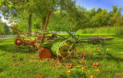 Bailing Hay Photograph - Farm Junk No5 by Sam Davis Johnson