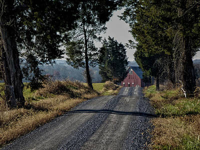 Art Print featuring the photograph Farm Lane by Robert Geary