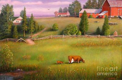 Painting - Farm Life by Al Hunter