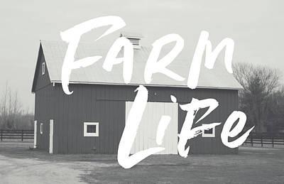 Mixed Media - Farm Life Barn- Art By Linda Woods by Linda Woods