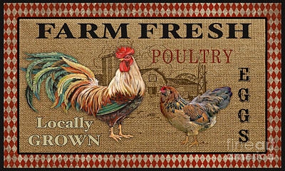 Locally Grown Painting - Farm Life-jp3238 by Jean Plout