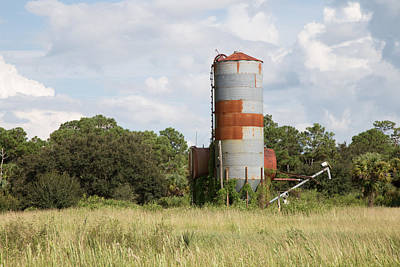 Photograph - Farm Life - Retired Silo by Christopher L Thomley