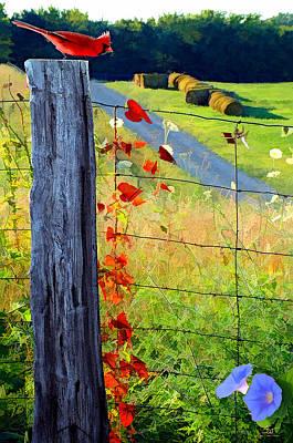 Bailing Hay Photograph - Farm Life by Sam Davis Johnson