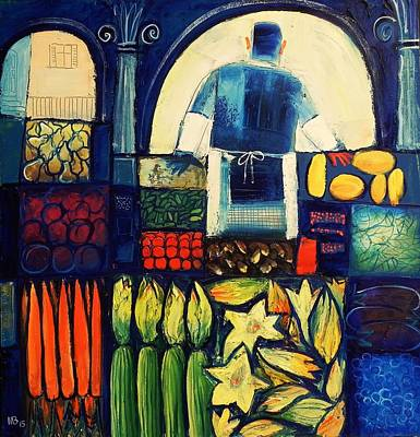 Painting - Farm Market   by Mikhail Zarovny