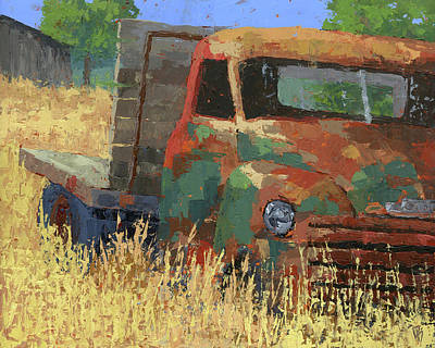Painting - Farm Memories by David King
