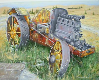 Old Farm Equipment Painting - Farm Memories by Sharon Tabor