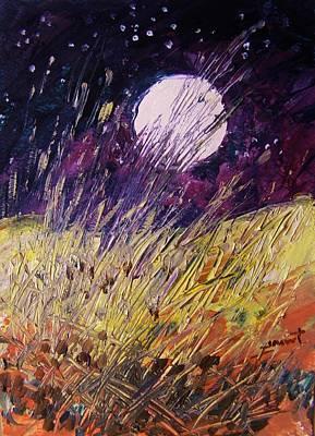 Farm Moon Print by John Williams