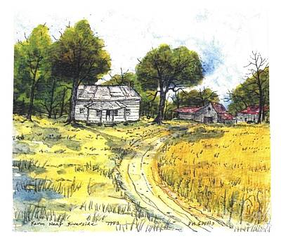 Painting - Farm Near Riversde by Patrick Grills