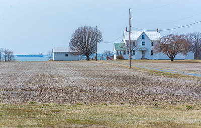 Farm On The Bay Art Print