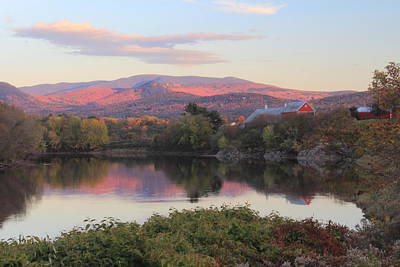 Photograph - Early Autumn Evening On The Connecticut River Newbury Vermont by John Burk