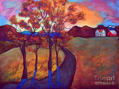 Barn Painting - Farm On The Hill by David Hinds