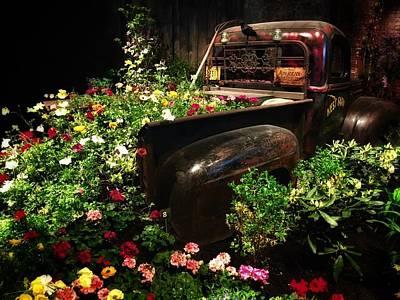 Photograph - Farm Pickup Full Of Flowers by Patricia E Sundik