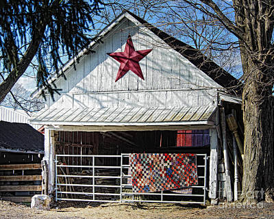 Homemade Quilts Photograph - Farm Quilt by Timothy Flanigan