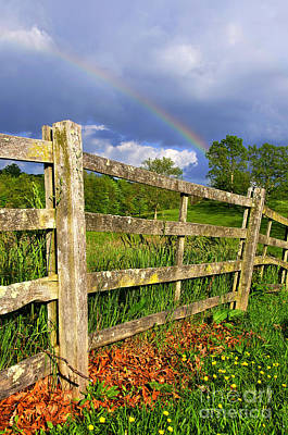 Farm Rainbow Art Print by Thomas R Fletcher