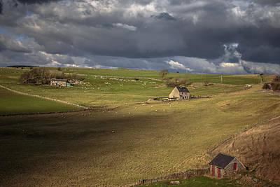 Derbyshire Photograph - Farm Residences by Chris Fletcher