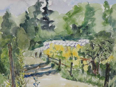 Painting - Farm Road At Mccormick Farm by Mary Brenner