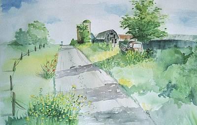 Farm Road Art Print by Christine Lathrop