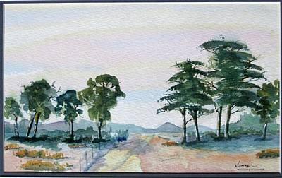 Karoo Painting - Farm Road Home by Harold Kimmel