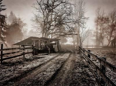 Photograph - Farm Road Late Autumnl. by Bill Linn