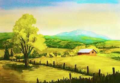Painting - Farm Scene by Douglas Castleman