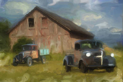 Barn Digital Art - Farm Scene by Jack Zulli