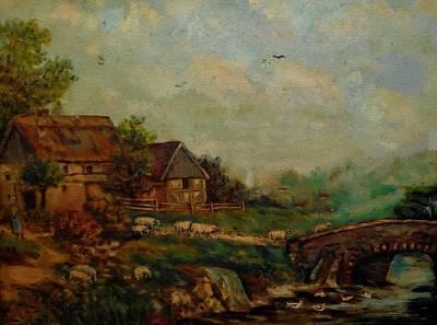 Rock Royalty - Farm Scene Near A Small Bridge H B by Gert J Rheeders