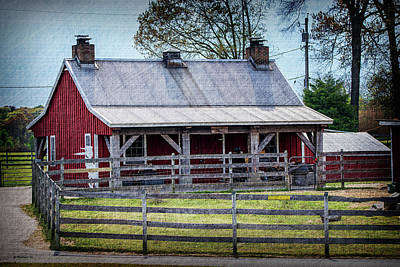 Shed Digital Art - Farm Shed by Brian Wallace