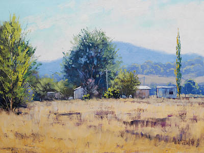 Shed Painting - Farm Sheds At Trmut by Graham Gercken