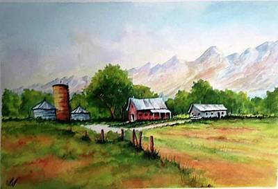 Painting - Farm Silo by Richard Benson