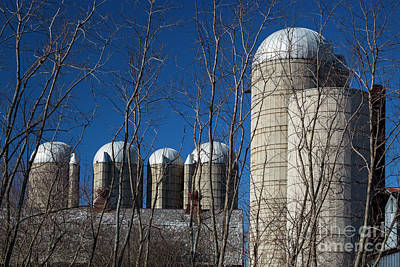 Photograph - Farm Silos by Jim West