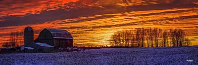 Photograph - Farm Sky On Fire by Peg Runyan