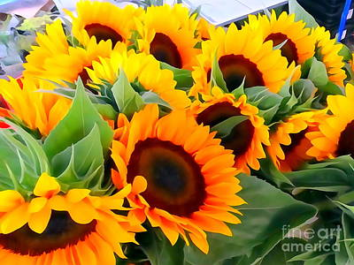 Digital Art - Farm Stand Sunflowers #8 by Ed Weidman