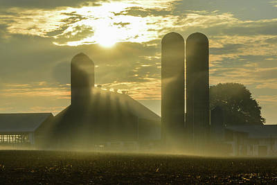 Photograph - Farm Sunrise #3 by Tana Reiff