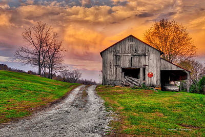 Photograph - Farm Sunrise In Ohio County Kentucky by Wendell Thompson