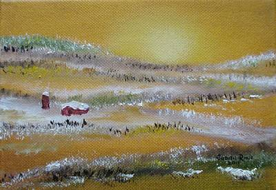 Painting - Farm Sunrise by Judith Rhue