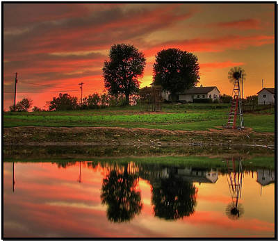 Photograph - Farm Sunset by Farol Tomson