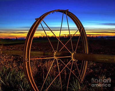 Photograph - Farm Sunset by Michael Cross