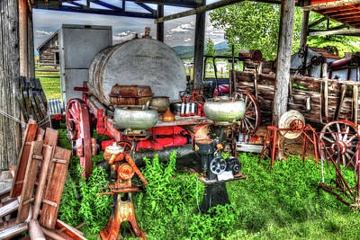 Photograph - Farm Tools by Richard J Cassato