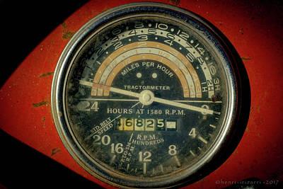 Photograph - Farm Tractor Speedometer by Henri Irizarri