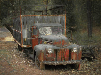 Photograph - Farm Truck by Wes Jimerson